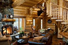 Awesome Ideas to build your dream log cabins in the mountains or next to a creek. A necessity to take refuge from our fast pace life.