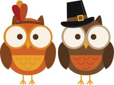 Thanksgiving Owls http://www.misskatecuttables.com/products/thanksgiving/freebie-of-the-day-thanksgiving-owls.php