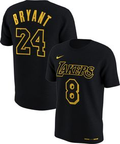 Nike Youth Los Angeles Lakers Kobe Bryant  8    24 Retired Dri-FIT Black  T-Shirt 03dd29ec4