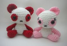 Panda Bears Amigurumi by StitchedLoveCrochet