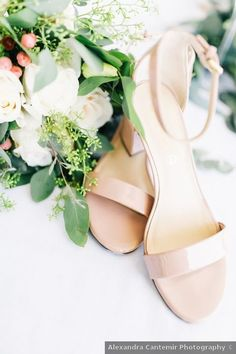 Wedding shoes ideas - heels, classic, summer, open toe, nude, taupe, beige {Alexandra Cantemir Photography}