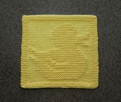 RUBBER DUCK Baby Wash Cloth or Knit Dishcloth  by AuntSusansCloset, $6.50