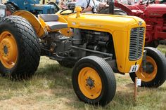 Yellow Massey Ferguson 35 during Melford Hall Vintage Rally in Long Melford, England