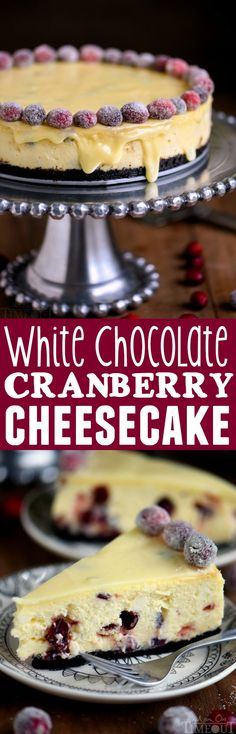This White Chocolate Cranberry Cheesecake recipe is the showstopping dessert you've been looking for – just in time for the holidays! Creamy decadence – every bite is pure bliss! MyRecipeMagic.com Cranberry Cheesecake, Best Cheesecake, Cheesecake Desserts, Cranberry Recipes, Just Desserts, Holiday Recipes, Delicious Desserts, Christmas Recipes, Christmas Desserts