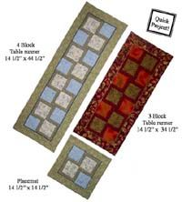 Make It Anytime Table Runner and Placemats