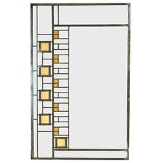 "Frank Lloyd Wright (1867-1959) for the Avery Coonley House, window, Riverside, IL, 1908, glass, zinc, 20.5""w x 32.5""h"