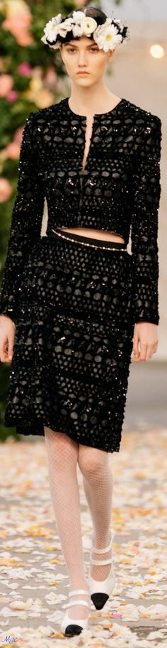 Chanel Fashion, High Fashion, Womens Fashion, Couture Fashion, Chanel Couture, Chanel Spring, Designer Collection, Editorial Fashion, Lace Skirt