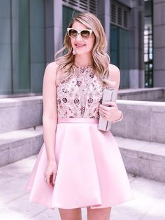 modest short pink pa