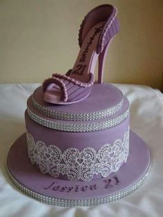 Purple Shoe Cake.