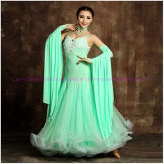 New! Ballroom dance costumes sexy senior beads sleeveless ballroom dance dress for women ballroom dance competition dresses #Affiliate