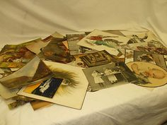 "VINTAGE CUTOUTS FOR CRAFTING, SCRAPBOOKING, OR ALTERED ART (STEAMPUNK):  PEOPLE, PLACES, & ANIMALS!    A MIXTURE OF APPROXIMATELY 50!    EXACT YEARS ARE UNKNOWN!    THE ""PINTEREST"" OF THE TURN OF THE LAST CENTURY!"