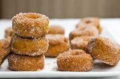 Cinnamon pumpkin doughnuts from Oh She Glows!