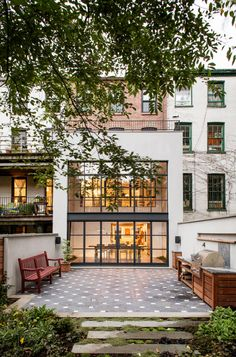 Stylish Brooklyn Townhouse; so many more pictures/details worth stealing. Rustic modern elements Kelsie?