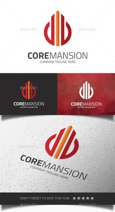 Core Mansion  Logo Design Template Vector #logotype Download it here:  http://graphicriver.net/item/core-mansion-logo/14368702?s_rank=1022?ref=nesto