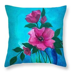 "Freshly Picked 2 Throw Pillow 14"" x 14"""