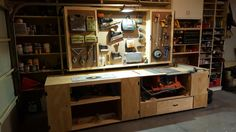 table saw and router work bench
