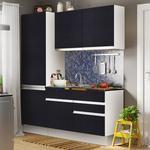 Cozinha Compacta Glamy Madesa Não Acompanha Tampo De Pia Branco/Ébano