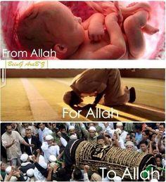 From Allah For Allah To Allah Alhamdulillah♥ Islam Religion, Islam Muslim, Islam Quran, Muslim Quotes, Islamic Quotes, Religious Quotes, Arabic Quotes, Ramadan, Allah Loves You
