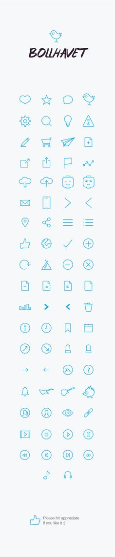 Bollhavet flat Icon set