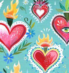 Heart Painting, Love Painting, Wall Collage, Wall Art Prints, Acrylic Artwork, Art Deco Posters, Posca, Mexican Folk Art, Heart Art