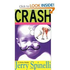 Read Crash children book by Jerry Spinelli . Newbery medalist Jerry Spinelli tackles the tale of cocky seventh-grade super-jock Crash Coogan, who got his nickname t Book Club Books, Book Lists, Books To Read, Book Clubs, Book Nerd, Jerry Spinelli Books, Middle School Books, 5th Grade Reading, Reluctant Readers