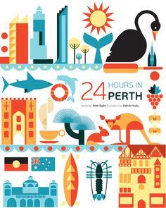 «24 hour in...» Qatar Airways encargó a los ilustradores Fernando Volken Togni y Patrick Hruby una serie de mas de 40 ilustraciones para su revista Orix.