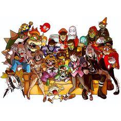 Hoy domingo de mucho #gaming !! #videojuegos #gamers #villains #fanart #nintendo #sega #capcom #streetfighter #mortalkombat