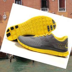 Nike Free Run 4.0 V2 Scarpe Uomo Grigio Giallo,HOT SALE!