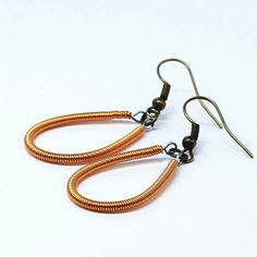 Guitar String Jewelry Copper Upcycled Bass Guitar String by Tanith, $22.00