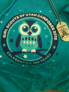 2012 Glow in the dark t-shirt and dog tags for Camporee, Girl Scouts of Utah