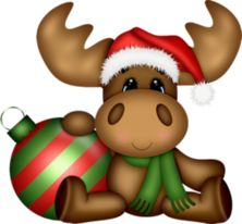 Christmas Clipart Art Paintings Animals Printables