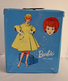 Vintage 1963 Barbie Carrying Case.  I had one of these in pink. Alas, it was lost in one of our many moves.