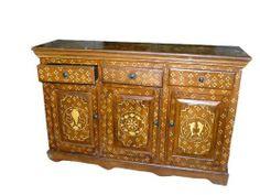 Bone Inlay Antique Furniture Sideboard Buffets India Wooden Furniture Handcrafted by Mogul Interior, http://www.amazon.com/dp/B004Z60BMM/ref=cm_sw_r_pi_dp_Kaxgrb109DA2Z