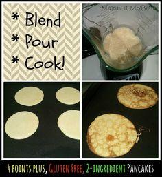 Makin' it Mo' Betta: 2-Ingredient Pancakes {Weight Watchers friendly!}