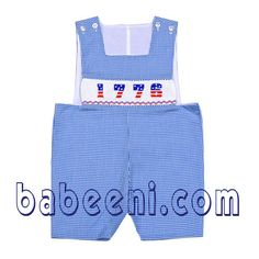 Smocked Boy Clothes with Shortall.  Available at http://babeeni.com/Smocked-clothing-for-spring-summer-2012.html