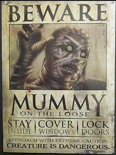 Halloween Wall Decor Haunted House Wanted Poster Sign