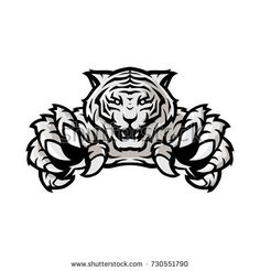white tiger sport gaming logo vector template with white background - buy this stock vector on Shutterstock & find other images.