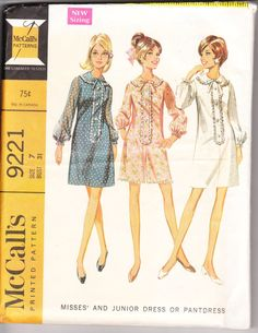 1968 Printed Sewing Pattern McCall's 9221 misses by VintHill