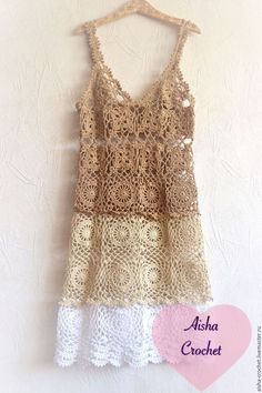 This Pin was discovered by Све The colors give it an omber look Achetez ou commandez Beach Sundress au … - Dress Cocktail new Buy or order Beach Sundress in the . Buy or apply for Beach Sundress in the online store at the Teachers' Fair. Cardigan Au Crochet, Crochet Cardigan, Knit Dress, Dress Skirt, Crotchet Dress, Beau Crochet, Mode Crochet, Crochet Lace, Crochet Skirts