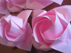 Origami Rose Paper Rose 1st Anniversary Gift by GraceinCrease