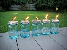 Filled with Citronella to get rid of the bugs