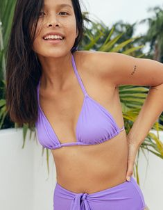 Aerie Triangle Bikini Top, Wisteria Wave | Aerie for American Eagle