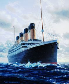 One of my favorite #Titanic paintings by Ken Marschall