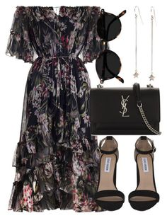 A fashion look from September 2017 by laurenmboot featuring Zimmermann, Steve Madden and Yves Saint Laurent Mode Outfits, Dress Outfits, Dress Up, Look Fashion, Korean Fashion, Womens Fashion, Fashion Tips, Petite Fashion, French Fashion