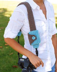 Camera Strap Cover And Lens Cap Pouch ༺✿ƬⱤღ✿༻