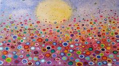Floral Landscape Acrylic Painting Tutorial (Yvonne Coomber Inspired) - Free Lesson for All Ages - YouTube