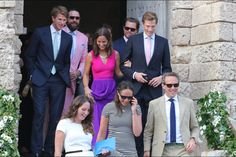 9/19/2014:Prince Harry,  Pippa Middleton, Nico Jackson and the Middletons attend a wedding at Carlo V Castle (Monopoli, Italy): in Tabitha Webb