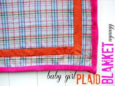 the girl flannel blanket - A girl and a glue gun