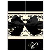 Elegant Overlay Black Gatefold Invitations -- engagement invite