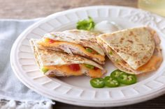Bean & Turkey Quesadillas | #JennieO #SwitchToTurkey | Bean & Cheese Turkey Quesadillas |  #recipe #turkey #quesadillas #kidfriendly #Mexican #JennieO | http://www.jennieo.com/recipes/47-Cheesy-Turkey-Quesadilla